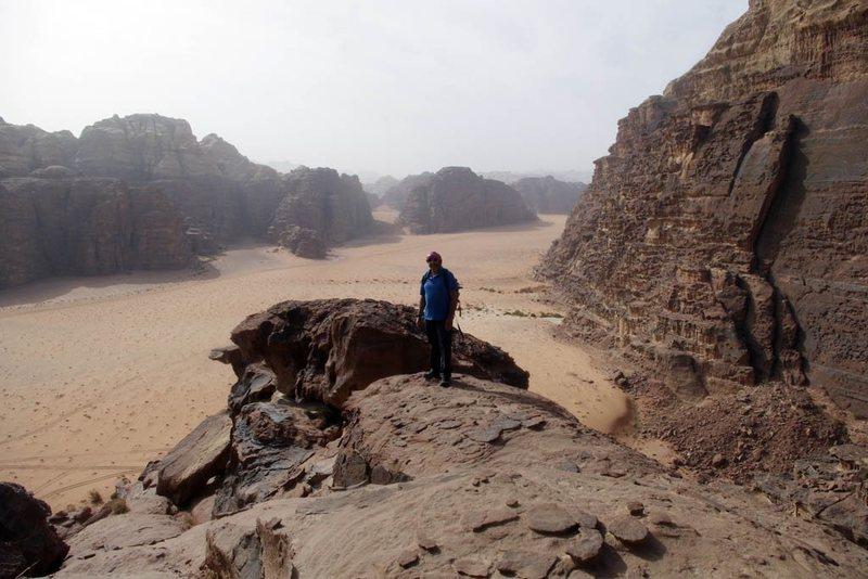 Rock Climbing Photo: On Sabbah's Route (III, 5.6), Jebel Khazali, Wadi ...