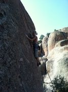 "Rock Climbing Photo: Kelly looking cool and natural on ""Ms. Cool&q..."