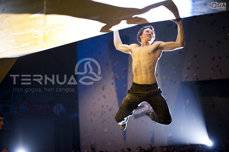 Rock Climbing Photo: During competition on plastic. photo - Jarek Noga ...