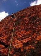 Rock Climbing Photo: Henry up Electric Koolaid