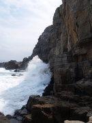 Rock Climbing Photo: Waves crashing on the Catwalk