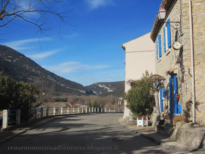 Rock Climbing Photo: The tiny village of Saint Léger du Ventoux and cl...