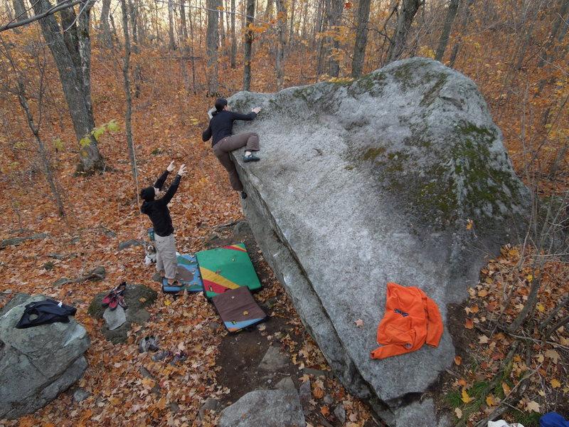 Rock Climbing Photo: the top-out. photo: B. Fellenz