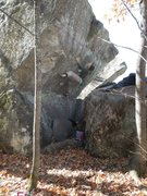 Rock Climbing Photo: Setting up for the hard finish moves. photo: B. Fe...