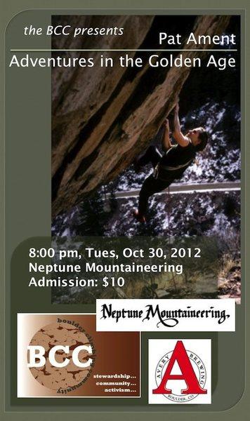 Pat Ament's Neptune show flyer.