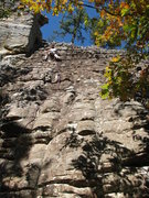 Rock Climbing Photo: Onsight of Sliders - first full trad lead