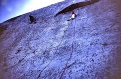 Rock Climbing Photo: Paul and Phil Gleason and I did the FFA in ca 1967...