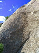 Rock Climbing Photo: The route starts to the left of the small seam and...