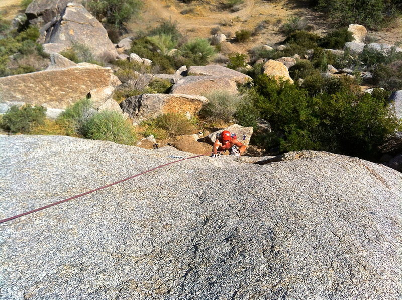 Rock Climbing Photo: Kirk pulling through the crux.