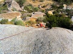 Rock Climbing Photo: Kirk pulling through the crux.
