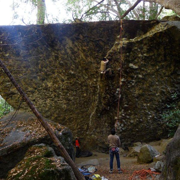 Rock Climbing Photo: The Flake.5.10b at The Knobby Wall.