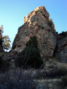 Rock Climbing Photo: An interesting chunk of rock on the descent from t...