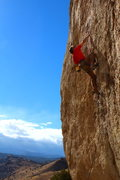 Rock Climbing Photo: Tanner Jones taking a small rest before the busine...