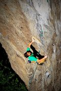 Rock Climbing Photo: Getting the redpoint on Caliman.  Photo: Dave Stal...
