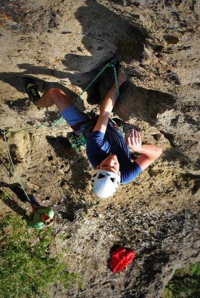 Rock Climbing Photo: James Sullivan on Idle Hands.   Photo: Corey Garga...