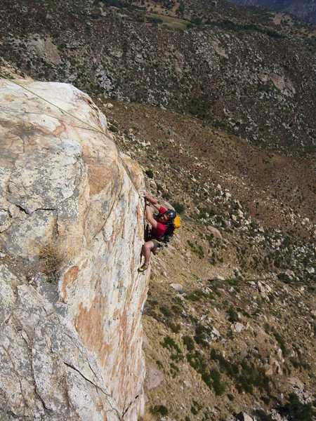 Rock Climbing Photo: beautiful and exposed cruising on diamonds of san ...