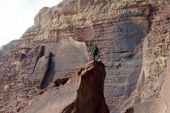 Rock Climbing Photo: My Bedouin rock-climbing guide Sabbah poses for a ...