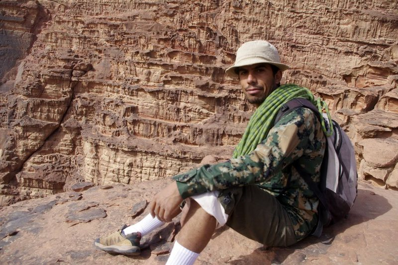Rock Climbing Photo: My Bedouin rock-climbing guide Sabbah, Wadi Rum, J...