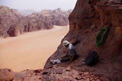 Rock Climbing Photo: Down-climbing and rapping off Jebel Khazali after ...