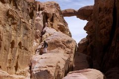 Rock Climbing Photo: Free-soloing 5.2 on the ancient Bedouin route, Nor...