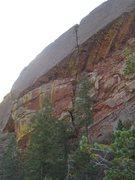 Rock Climbing Photo: A shot of Super Power as seen while climbing on th...