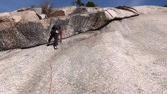 Rock Climbing Photo: Brad White leading P2 (the eye)