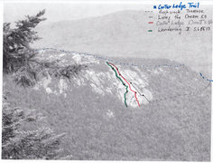 Rock Climbing Photo: Carter Ledge Photo Topo