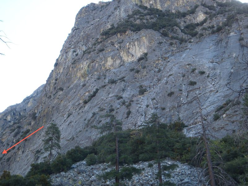 Rock Climbing Photo: Here's a picture from near the parking area, foolp...