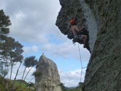 Rock Climbing Photo: Pulling into the rams head