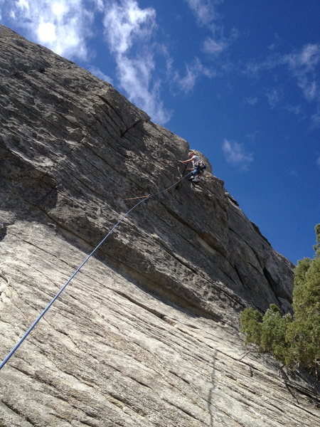 Rock Climbing Photo: Pure Pleasure (unless you slip on the way to the b...