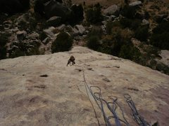 Rock Climbing Photo: top of P2 (our first) Super fun, well featured sla...