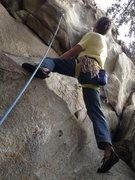 Rock Climbing Photo: looking up the steep start