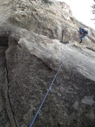 Rock Climbing Photo: Looking up the start.  Pulling this roof is probab...