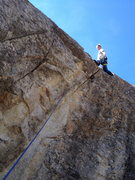 Rock Climbing Photo: Psyched to be above the lip...