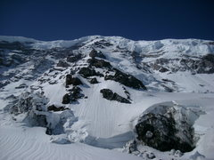 Rock Climbing Photo: View of the ridge from the carbon glacier.