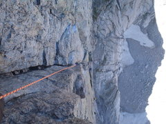 Rock Climbing Photo: Casual Route on the diamond, top of P6
