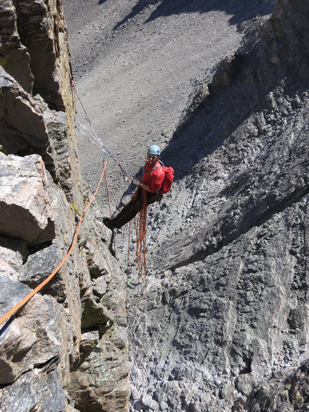Rock Climbing Photo: hanging out on the flying buttress, Aug 2012... to...