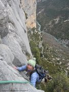 Rock Climbing Photo: Anne topping out on 'Double Fond' a must do 5 pitc...