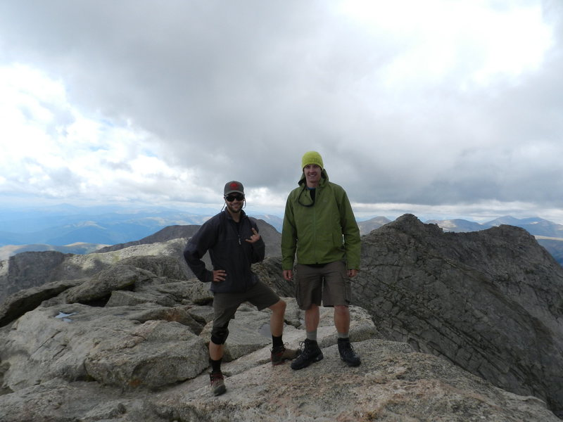 dustin and atop of Mt Evans