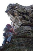 Rock Climbing Photo: pre-free solo