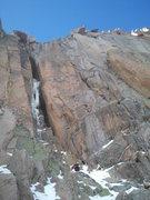 Rock Climbing Photo: Noah McKelvin approaching Schobinger's Cracks on 1...