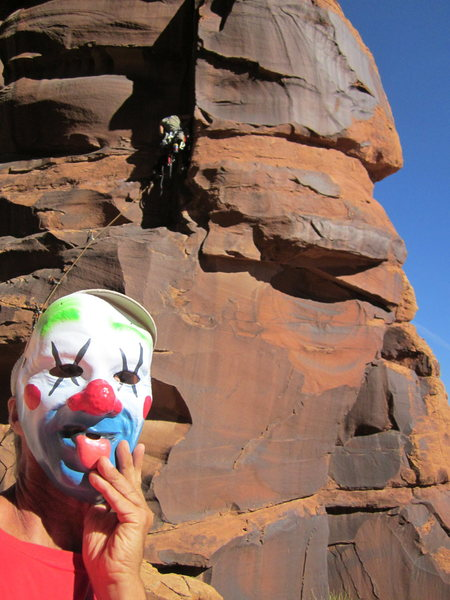 Rock Climbing Photo: drake clowning around at the base