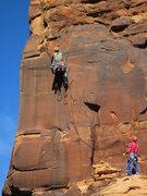 Rock Climbing Photo: workin pitch 2