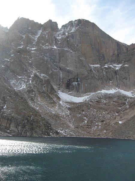 Rock Climbing Photo: Diamond.  Lake is not at all frozen.