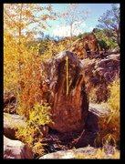 Rock Climbing Photo: Visible Breath problem beta on Island Boulder.