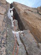 Rock Climbing Photo: Noah McKelvin on the first pitch of Schobinger's C...