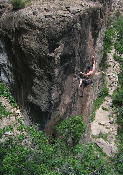 Ian Achey, 2nd ascent.
