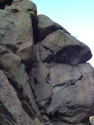 Rock Climbing Photo: Solid and gritty. Climb the right-facing dihedral ...
