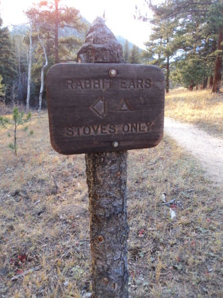 This sign is where you veer off the bigger established trail.