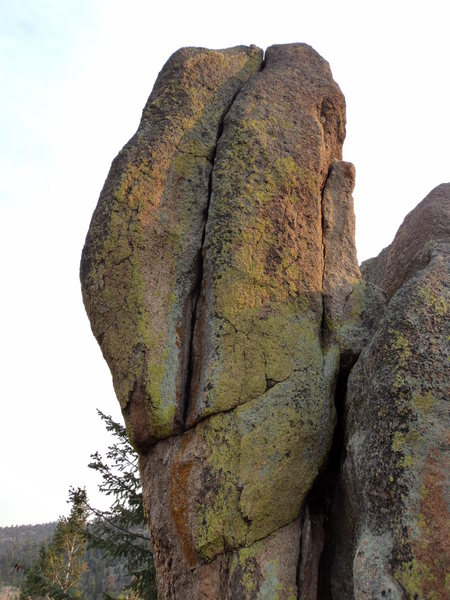 Rock Climbing Photo: The West face.  The lighting is odd but not photo-...